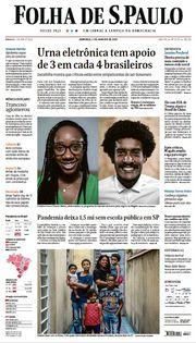 Capa do Jornal Folha de S. Paulo Edição 2021-01-03