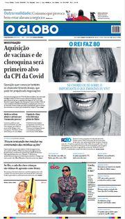 Capa do Jornal O Globo Edição 2021-04-18