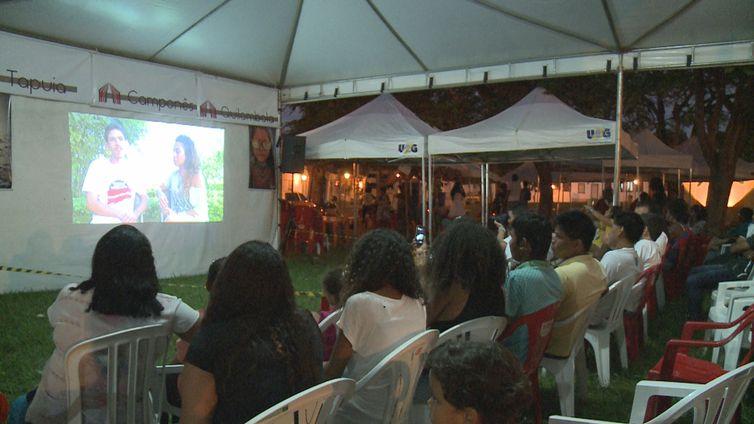 Público em sessão do Festival Internacional de Cinema e Vídeo Ambiental, na Cidade de Goiás