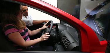 simuladores de direção veicular em autoescolas (Divulgação/Ministério das Cidades)