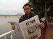 O jornalista Israel Flores é correspondente do jornal El Sur  (Leandra Felipe/Agência Brasil)