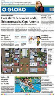 Capa do Jornal O Globo Edição 2021-06-01
