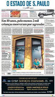 Capa do Jornal O Estado de S. Paulo Edição 2021-04-14