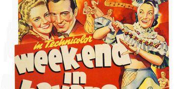 Carmen Miranda em cartaz de filme