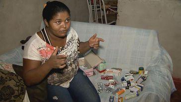 A trabalhadora rural Andreza Batista é uma das 46 pessoas intoxicadas numa lavoura de soja localizada entre o Distrito Federal e o estado de Goiás