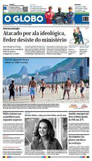 Capa do Jornal O Globo Edição 2020-07-06