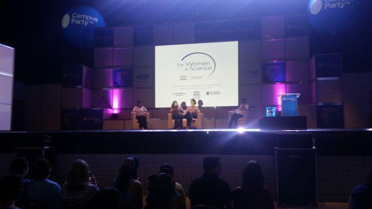 Mulheres na Ciência, o evento incluiu em sua programação espaços de discussão sobre a participação feminina em áreas que são tradicionalmente dominadas por homens, como o setor de Tecnologia da Informação