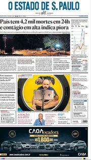 Capa do Jornal O Estado de S. Paulo Edição 2021-04-07