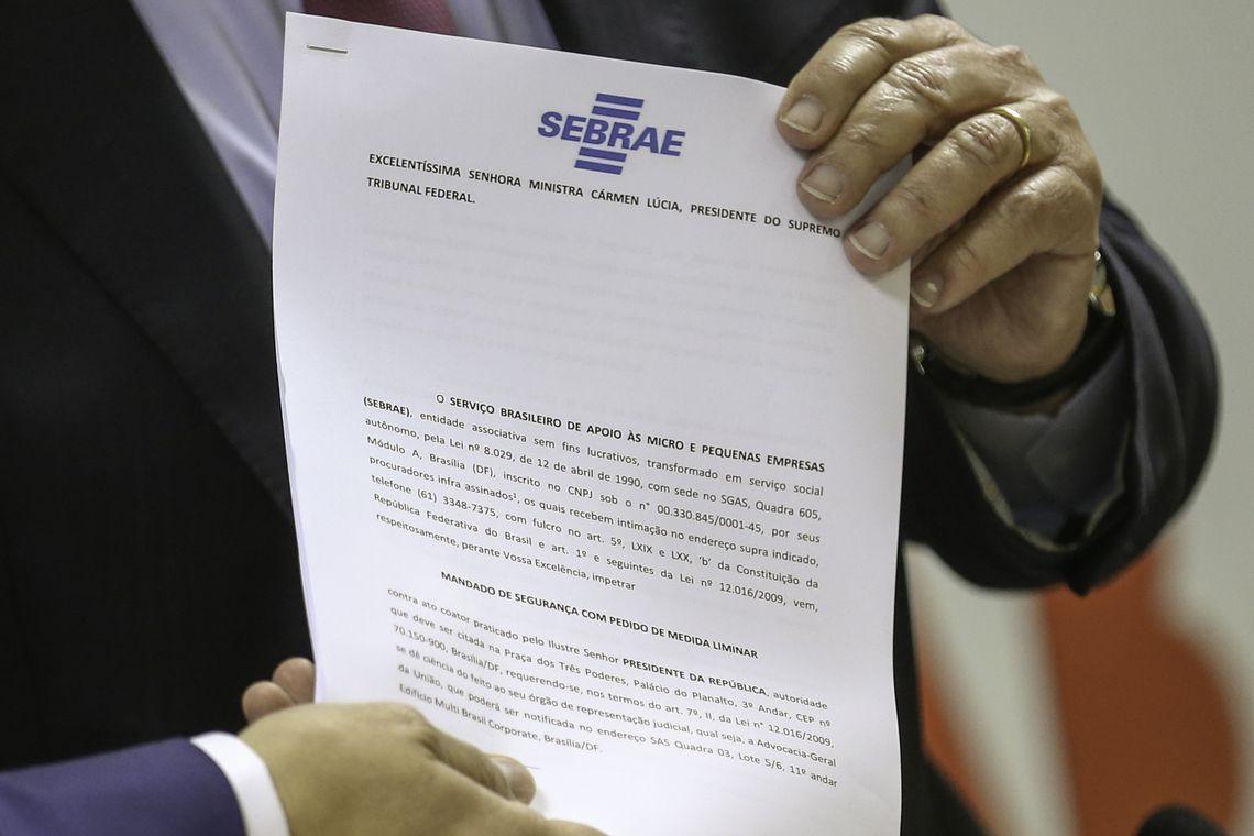 O Serviço Brasileiro de Apoio às Micro e Pequenas Empresas (Sebrae) ingressou com um mandado de segurança no Supremo Tribunal Federal (STF) contra a medida provisória que criou a Agência Brasileira de Museus (Abram).