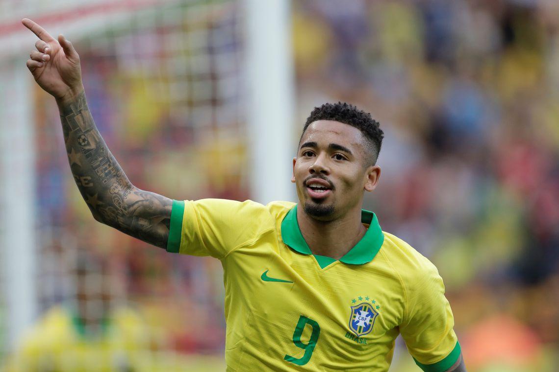 Copa América 2019: Gabriel Jesus comemora o primeiro gol do Brasil contra Honduras