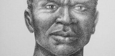 Ilustração a grafite sobre papel, original: 18 x 25 cm. Zumbi (Serra da Barriga, 1655 — Serra Dois Irmãos, 20 de novembro de 1695) foi o último dos líderes do Quilombo dos Palmares, o maior dos quilombos do período colonial.