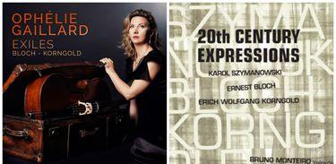 Capas dos CDs dedicados a Bloch e Korngold
