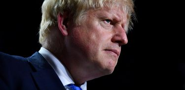 Britain's Prime Minister Boris Johnson is seen during a news conference at the end of the G7 summit in Biarritz, France, August 26, 2019. REUTERS/Dylan Martinez