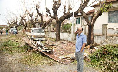 Danos do ciclone Idai são vistos em Beira, Moçambique