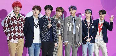 Banda sul-coreana BTS em 2018 no MelOn Music Awards