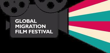Logomarca do Festival Global de Filmes sobre Migração
