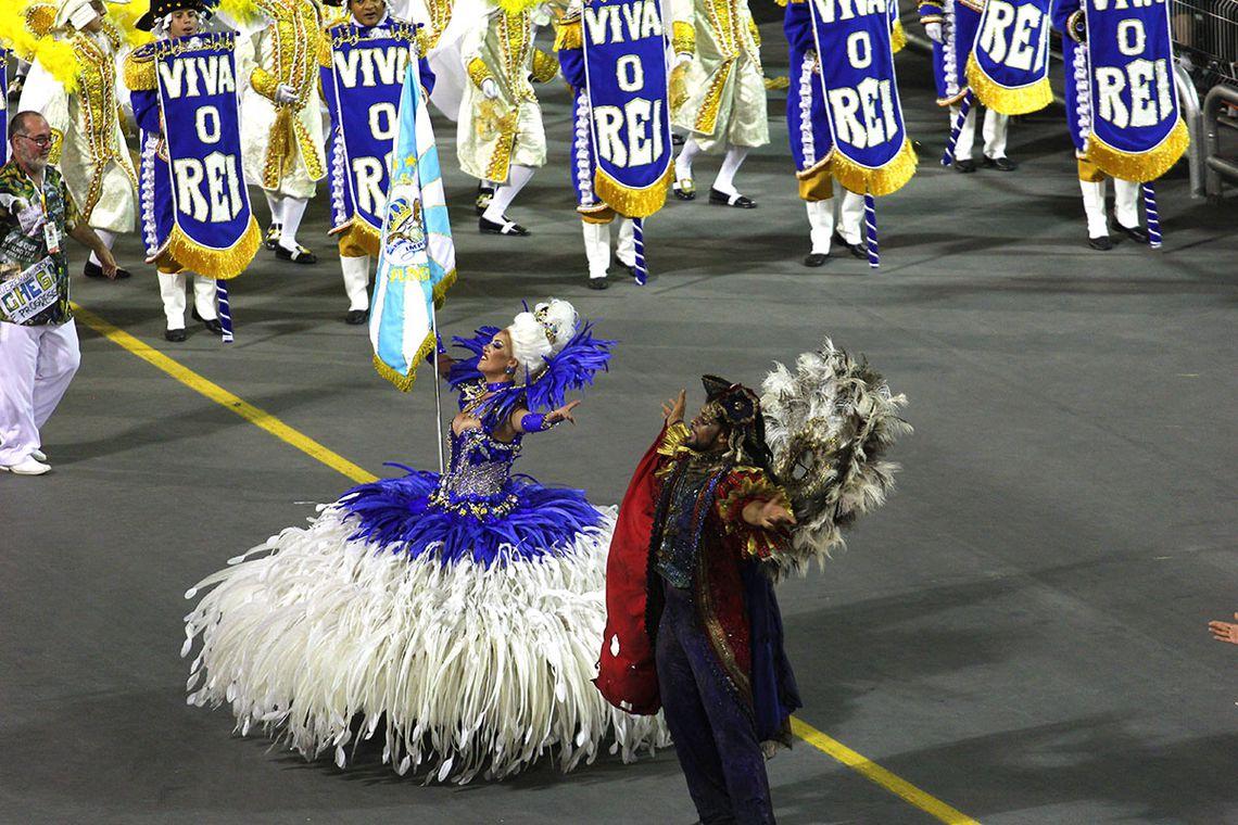 São Paulo – Escola de samba Império de Casa Verde no segundo dia de desfile das escolas de samba paulistanas do Grupo Especial (Divulgação/LigaSP)