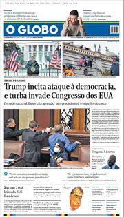 Capa do Jornal O Globo Edição 2021-01-07