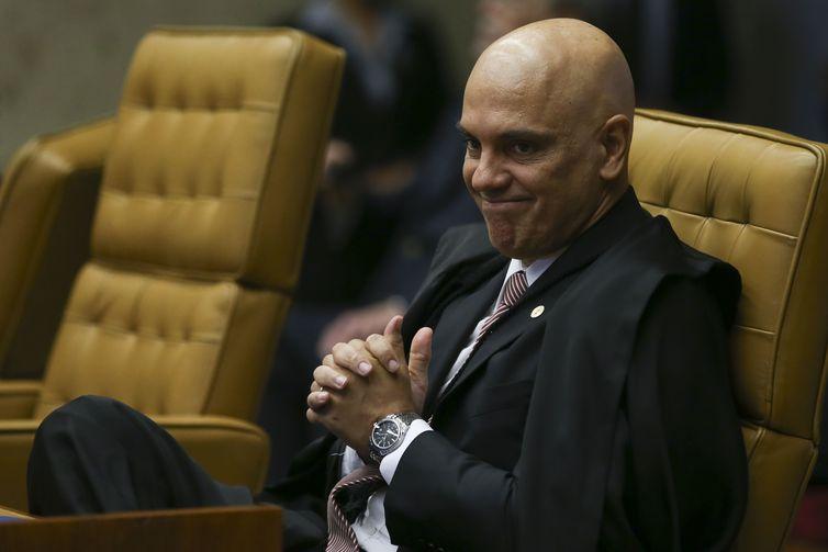 O Supremo Tribunal Federal  realiza sessão solene de abertura do Ano Judiciário de 2019. Na foto, o ministro Alexandre de Moraes.
