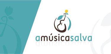 "Logomarca do projeto ""A música salva"""