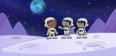 Júlio, Verne e Soluço viajam até a Lua