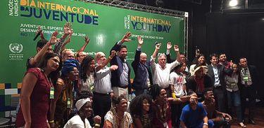 Rio de Janeiro -Encontro da ONU e Fiocruz sobre juventude foi aberto pelo grupo Dream Team do Passinho ( Flávia Villela/Agência Brasil )