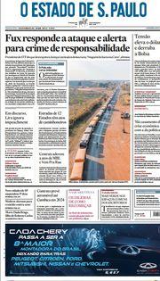 Capa do Jornal O Estado de S. Paulo Edição 2021-09-09