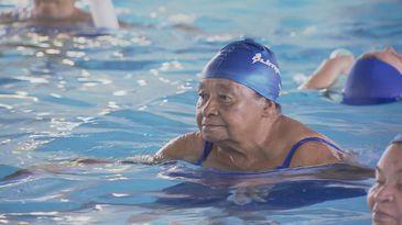 Maria Batista, de 85 anos, não se descuida da saúde