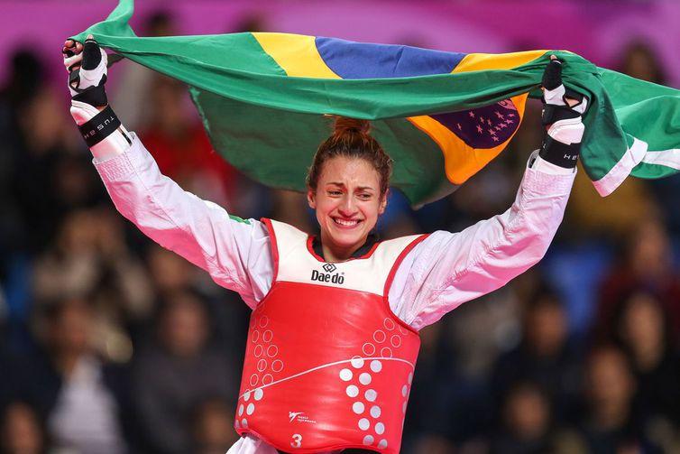 Milena Titoneli  (Brasil), medalha de ouro na categoria -67kg do taekwondo nos Jogos Pan-Americanos Lima 2019. Local: Callao, em Lima, Peru. Data: 29.07.2019. Crédito obrigatório: Abelardo Mendes Jr/ rededoesporte.gov.br