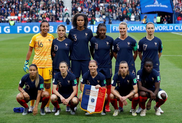 Seleção da França na Copa do Mundo de Futebol Feminino - França 2019.