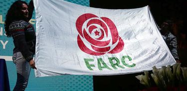 Símbolo do partido das Farc é uma rosa com uma estrela no meio