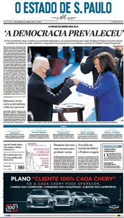 Capa do Jornal O Estado de S. Paulo Edição 2021-01-21