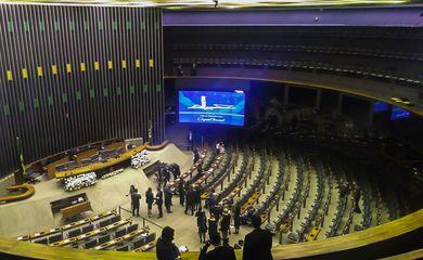 Polícia Legislativa faz uma última varredura completa do plenário da Câmara, onde ocorrerá a cerimônia de posse do presidente eleito Jair Bolsonaro.