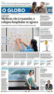Capa do Jornal O Globo Edição 2021-04-04