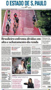 Capa do Jornal O Estado de S. Paulo Edição 2021-04-12