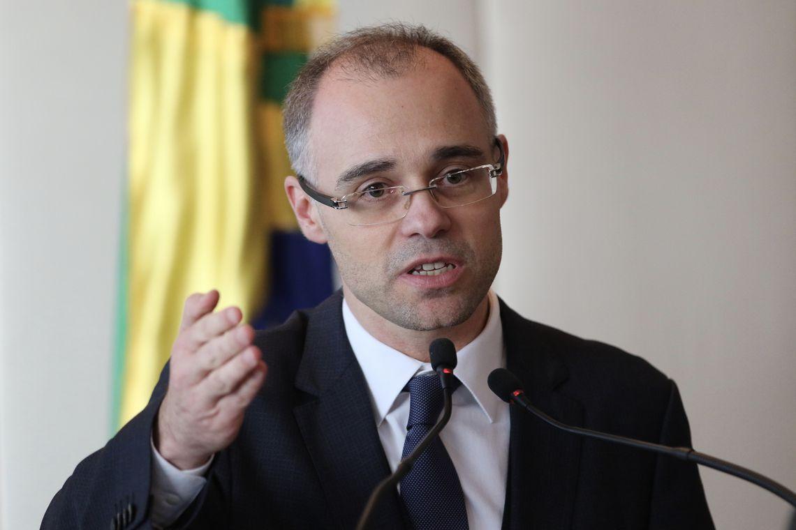 O advogado-geral da União, André Mendonça participa do lançamento do Portal do Observatório Nacional.