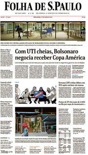 Capa do Jornal Folha de S. Paulo Edição 2021-06-01