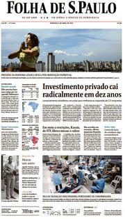 Capa do Jornal Folha de S. Paulo Edição 2021-04-04