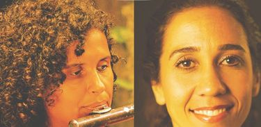 As compositoras Aline Gonçalves e Marcela Velon