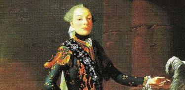Retrato de Carlos Scalzi, castrato do século XVIII