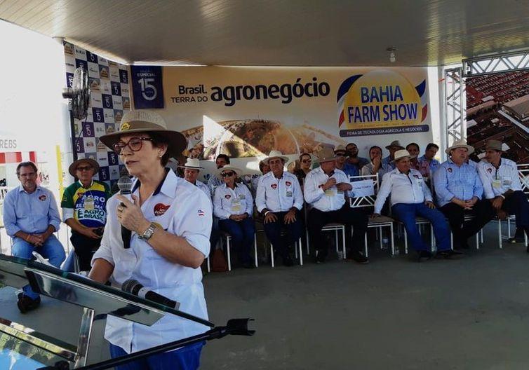 Tereza Cristina ministra defendeu que o país tenha uma política agrícola definida, sendo essencial que o produtor rural tenha previsibilidade na hora de tomar crédito