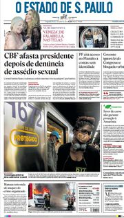 Capa do Jornal O Estado de S. Paulo Edição 2021-06-07