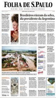 Capa do Jornal Folha de S. Paulo Edição 2021-06-10