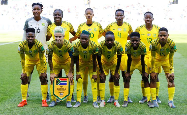 Seleção da África do Sul na Copa do Mundo de Futebol Feminino - França 2019.