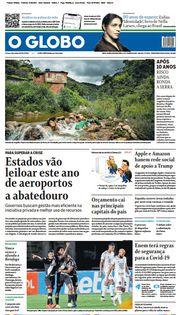 Capa do Jornal O Globo Edição 2021-01-11