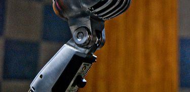 Microfone, música, gravação, música, voz