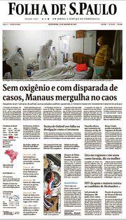 Capa do Jornal Folha de S. Paulo Edição 2021-01-15