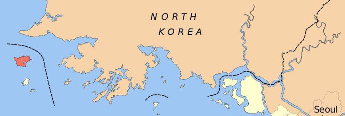A ilha sul-coreana de Baengnyeong fica na província de Incheon