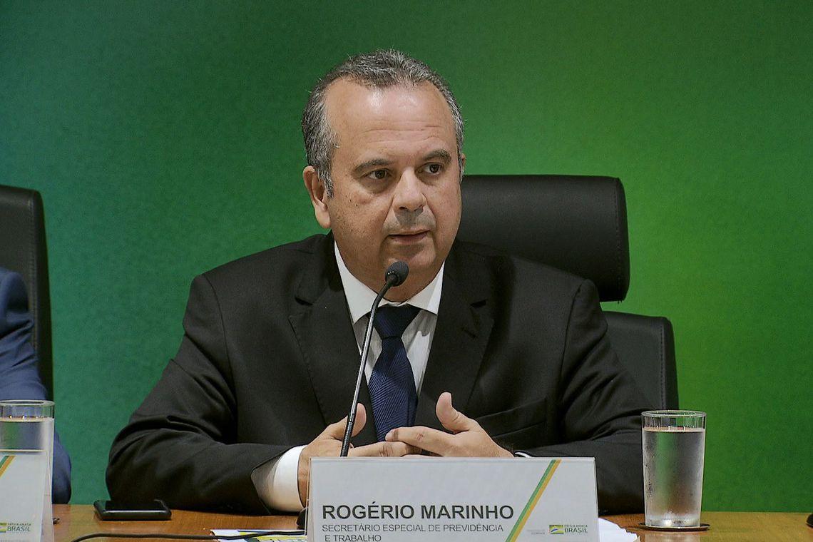 O secretário especial da Previdência e Trabalho, Rogério Marinho, fala sobre a proposta de reforma da Previdência, durante entrevista coletiva.