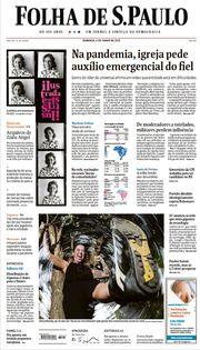 Capa do Jornal Folha de S. Paulo Edição 2021-06-06